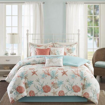 Keyport 7 Piece Comforter Set Size: California King