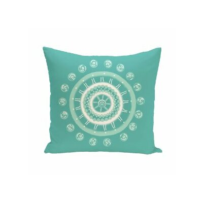 Rajashri Geometric Square Throw Pillow Size: 16 H x 16 W, Color: Aqua