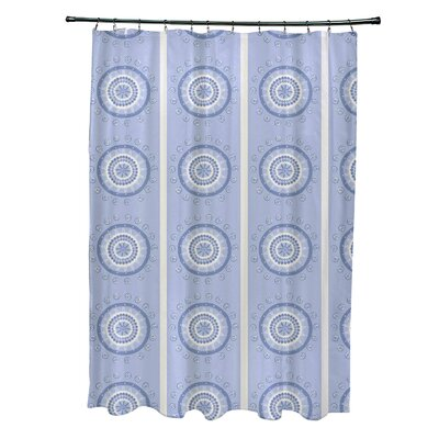 Rajashri Geometric Shower Curtain Color: Light Blue