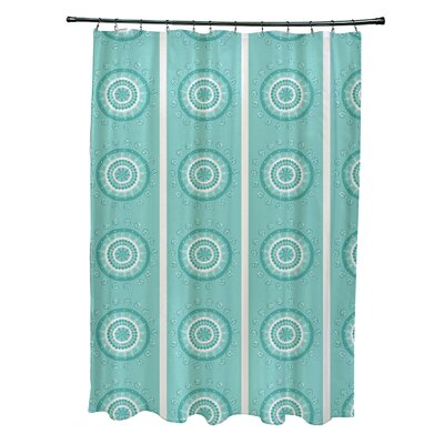 Greenview Geometric Shower Curtain Color: Aqua