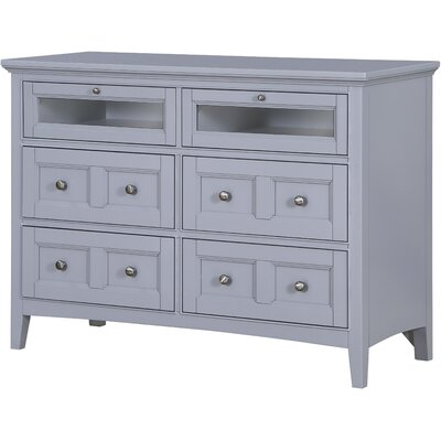 Tanager 6 Drawer Media Chest Color: Gray