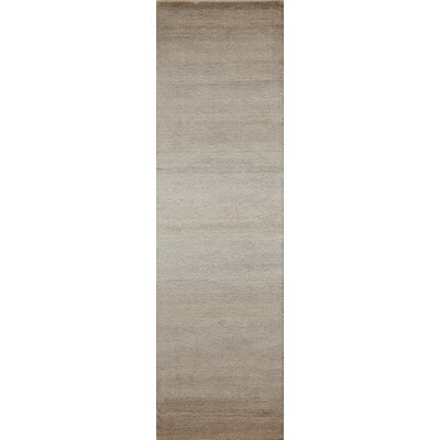 Clevenger Hand-Loomed Taupe Area Rug Rug Size: Runner 23 x 8