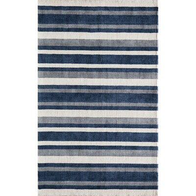 Clevenger Hand-Tufted Navy/Ivory Area Rug Rug Size: Rectangle 5 x 8