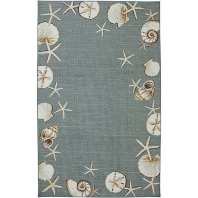 Rowley Waimea Bay Sea Blue Area Rug Rug Size: 5 x 8