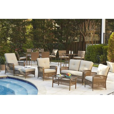 Lakewood Ranch 4 Piece Sofa Seating Group Frame Finish: Brown