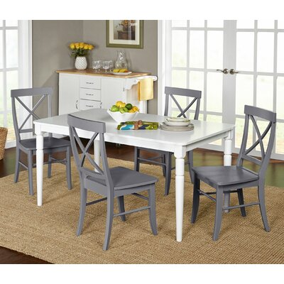 Brookwood 5 Piece Dining Set Chair Finish: Gray