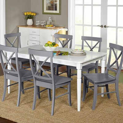 Brookwood 7 Piece Dining Set Chair Finish: Gray