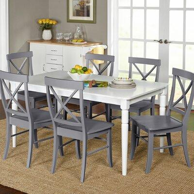 Brookwood 7 Piece Dining Set Chair Finish: Gray