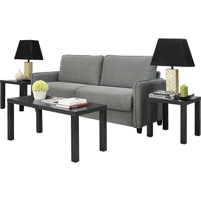 Sunbury 3 Piece Coffee Table Set Color: Black