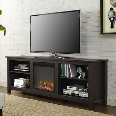 Sunbury 70 TV Stand with optional Fireplace Color: Espresso, Fireplace Included: Yes