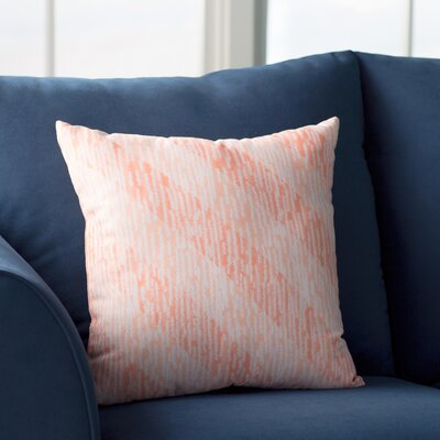 Cedarville Marled Knit Stripe Geometric Print Throw Pillow Size: 16 H x 16 W, Color: Coral