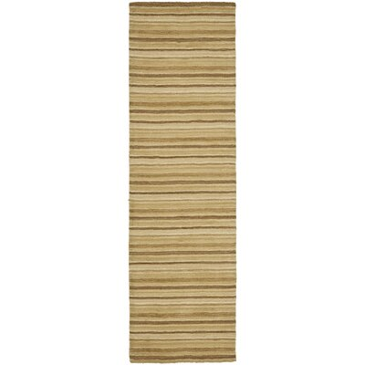Crooked Lake Park Brown Stripe Area Rug Rug Size: Runner 23 x 6