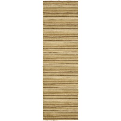 Crooked Lake Park Brown Stripe Area Rug Rug Size: Runner 23 x 8