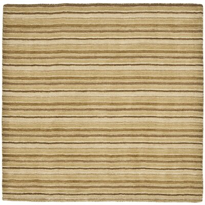 Crooked Lake Park Brown Stripe Area Rug Rug Size: Square 6