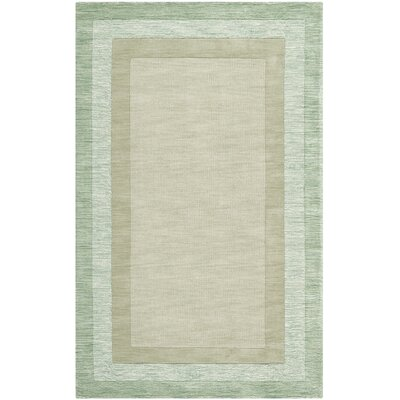 Frederica Green/Beige Area Rug Rug Size: Rectangle 3 x 5