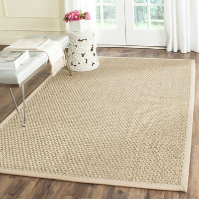 Richmond Hand-Woven Natural/Beige Area Rug Rug Size: Rectangle 5 x 8