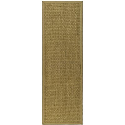 Richmond Hand-Woven Natural/Beige Area Rug Rug Size: Runner 26 x 18