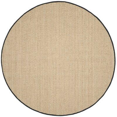 Richmond Natural / Black Area Rug Rug Size: Round 8