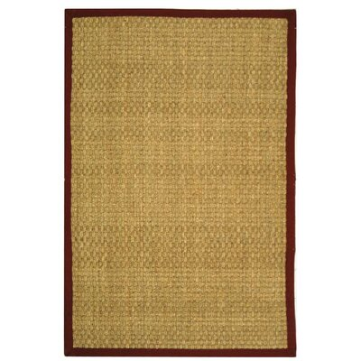 Richmond Natural/Red Area Rug Rug Size: 4 x 6