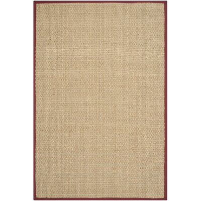 Richmond Natural/Red Area Rug Rug Size: 6 x 9