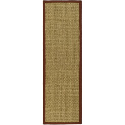 Richmond Hand-Woven Natural/Red Area Rug Rug Size: Runner 26 x 8