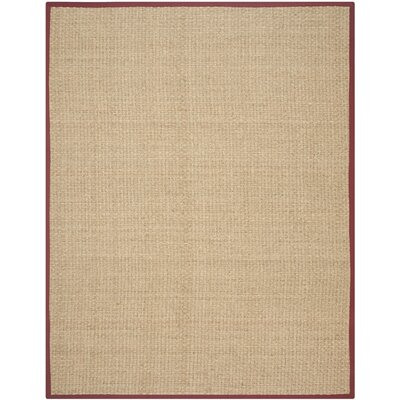 Richmond Natural/Red Area Rug Rug Size: 9 x 12