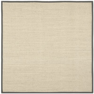 Richmond Hand-Woven Marble/Gray Area Rug Rug Size: Square 8
