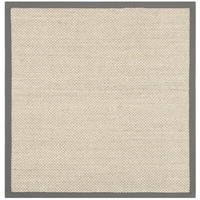 Richmond Hand-Woven Marble/Gray Area Rug Rug Size: Square 4