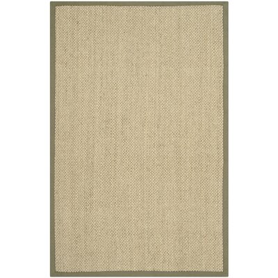 Richmond Natural/Green Area Rug Rug Size: 4 x 6