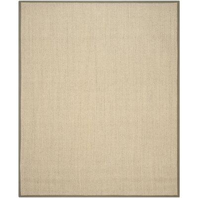 Richmond Natural/Green Area Rug Rug Size: 9 x 12