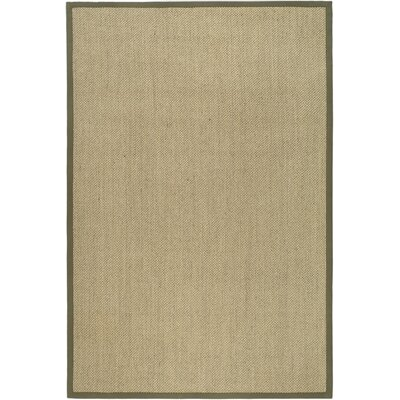 Richmond Natural/Green Area Rug Rug Size: 6 x 9