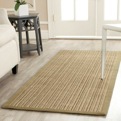 Richmond Hand-Woven Green Area Rug Rug Size: Runner 26 x 6
