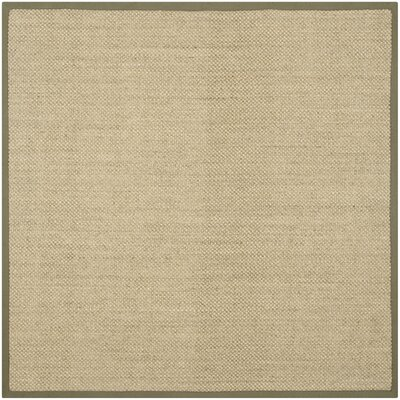 Richmond Natural/Green Rug Rug Size: Square 6