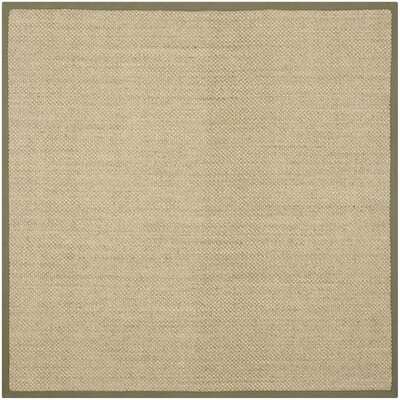 Richmond Natural/Green Rug Rug Size: Square 8