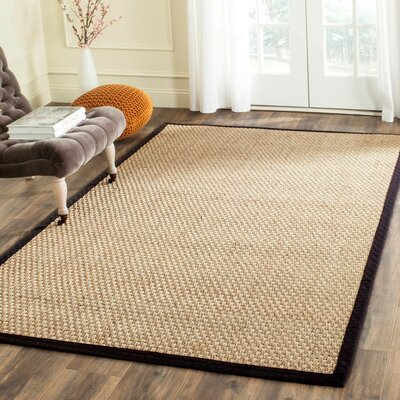 Richmond Natural & Black Area Rug Rug Size: Rectangle 6 x 9