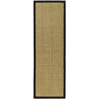Richmond Natural & Black Area Rug Rug Size: Runner 26 x 18