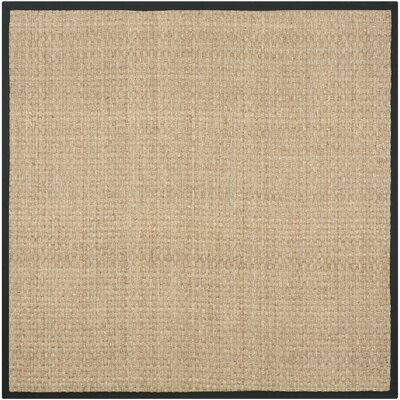 Richmond Natural & Black Area Rug Rug Size: Square 8