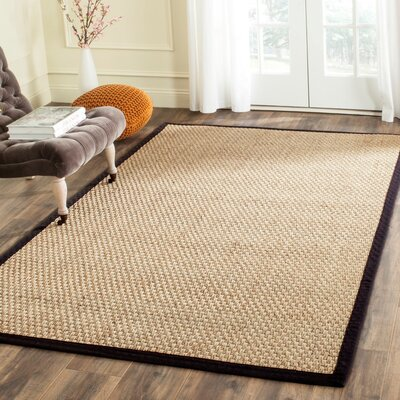 Richmond Natural & Black Area Rug Rug Size: 5 x 8