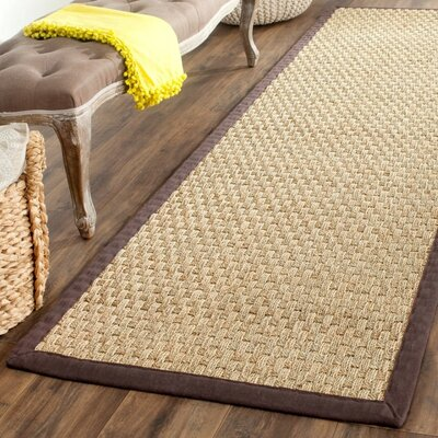 Richmond Natural / Dark Brown Indoor Area Rug Rug Size: 5 x 8
