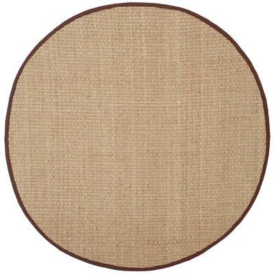 Richmond Natural / Dark Brown Indoor Area Rug Rug Size: Round 6