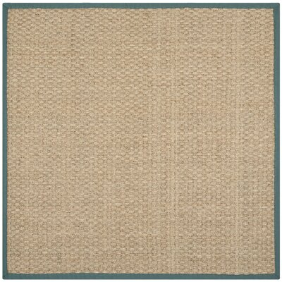 Richmond Natural/Light Blue Indoor Area Rug Rug Size: Square 6