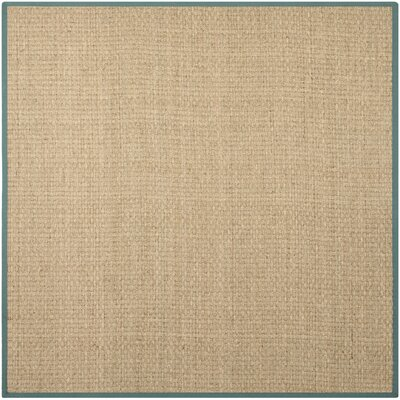 Richmond Natural/Light Blue Indoor Area Rug Rug Size: Square 8