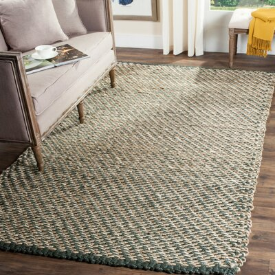 Richmond Hand-Woven Blue/Natural Indoor Area Rug Rug Size: Rectangle 4 x 6