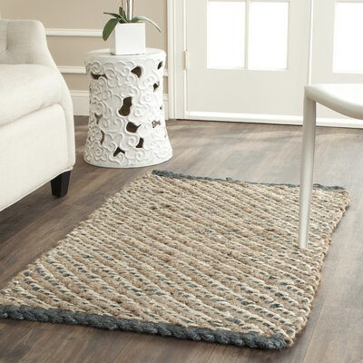 Richmond Hand-Woven Blue/Natural Indoor Area Rug Rug Size: Rectangle 26 x 4