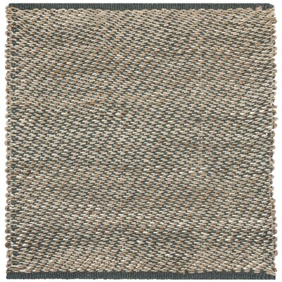 Richmond Hand-Woven Blue/Natural Indoor Area Rug Rug Size: Square 6