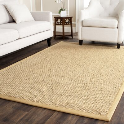 Richmond Maize Sisal Beige/Yellow Indoor Area Rug Rug Size: Rectangle 4 x 6
