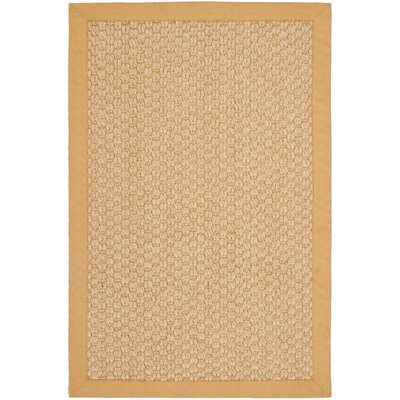 Richmond Maize Sisal Beige/Yellow Indoor Area Rug Rug Size: Rectangle 3 x 5