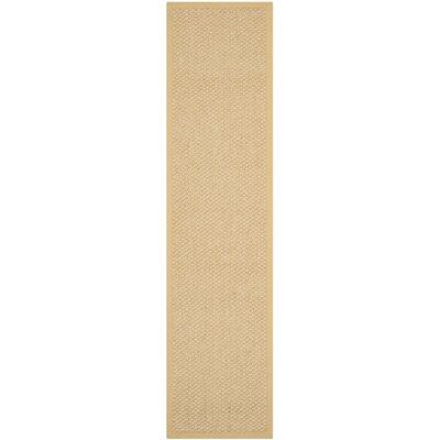 Richmond Maize Sisal Beige/Yellow Indoor Area Rug Rug Size: Runner 2 x 8