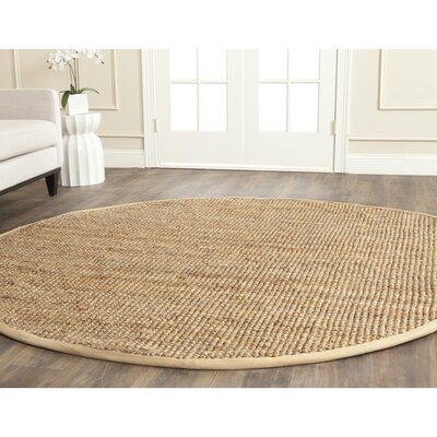 Richmond Hand-Woven Brown Area Rug Rug Size: Round 5