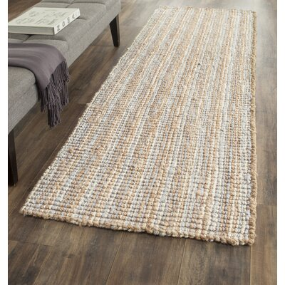 Richmond Hand-Woven Gray/Natural Area Rug Rug Size: Runner 26 x 12